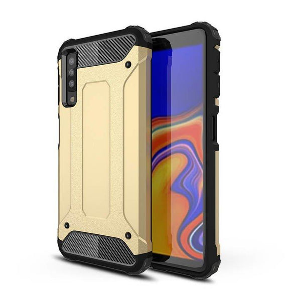 Husa Hybrid Armor Case Tough Rugged Cover pentru Samsung Galaxy A7 2018 Gold - Trendmobile