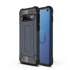 Husa Hybrid Armor Case Tough Rugged Cover pentur Samsung Galaxy S10 blue - Trendmobile