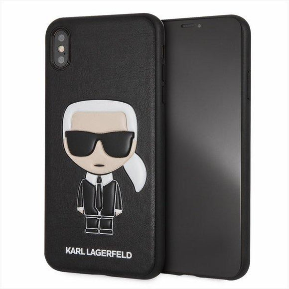 Husa KARL LAGERFELD HARD CASE ICONIC KARL EMBOSSED IPHONE XS MAX BLACK - Trendmobile