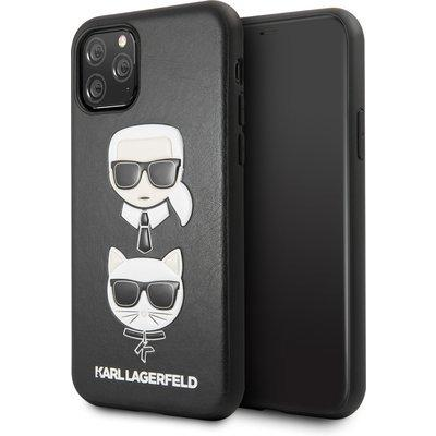 Husa KARL LAGERFELD HARD CASE KARL AND CHOUPETTE IPHONE 11 PRO BLACK - Trendmobile