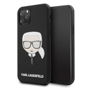 Husa Karl Lagerfeld iPhone 11 Pro black Iconik Embossed & Glitter - Trendmobile