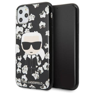Husa Karl Lagerfeld iPhone 11 Pro Max black Flowe - Trendmobile