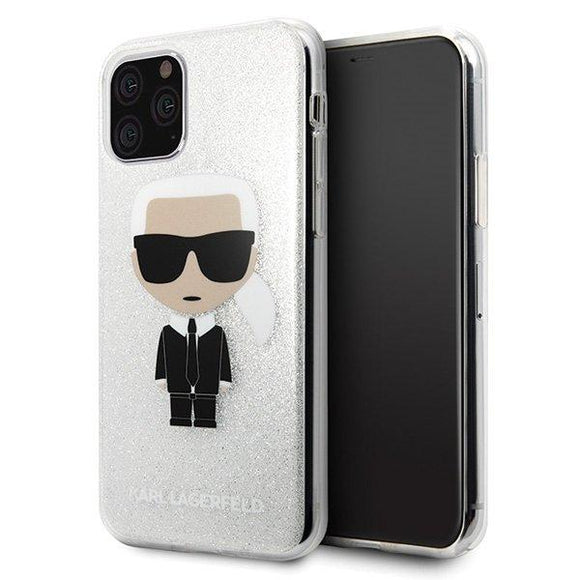 Husa Karl Lagerfeld iPhone 11 Pro Max Glitter Iconic - Trendmobile