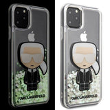Husa Karl Lagerfeld iPhone 11 Pro Max hardcase Iconic Glitter Glow in the dark - Trendmobile