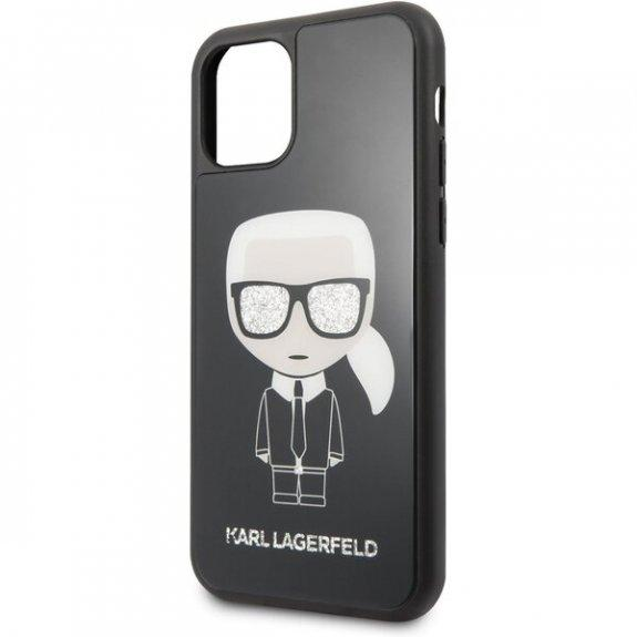 Husa Karl Lagerfeld iPhone 11 Pro Max Iconic Glitter Karl`s Head - Trendmobile