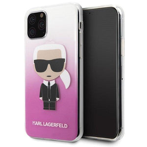 Husa Karl Lagerfeld iPhone 11 Pro pink Gradient Ikonik Karl - Trendmobile