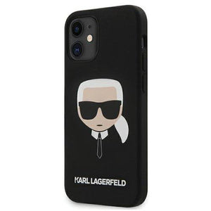 "Husa Karl Lagerfeld iPhone 12 mini 5,4"" black hardcase Silicone Karl`s Head - Trendmobile"