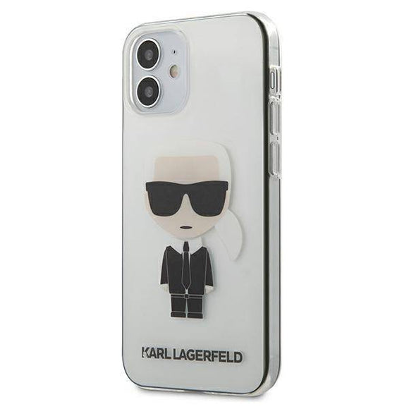 Husa KARL LAGERFELD TRANSPARENT IKONIK IPHONE 12 MINI - Trendmobile