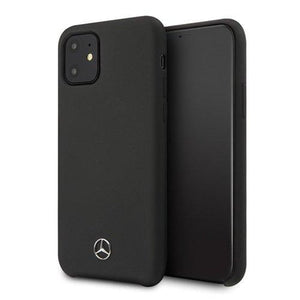 "Husa Mercedes iPhone 12 mini 5,4"" black hardcase Silicone Line - Trendmobile"