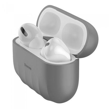 Husa protectie Apple Airpods Pro - Baseus Shell Grey - Trendmobile