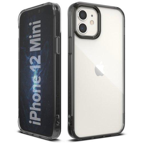Husa Ringke Fusion PC Case with TPU Bumper for iPhone 12 mini grey - Trendmobile