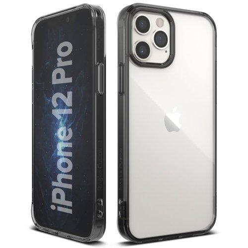 Husa Ringke Fusion PC Case with TPU Bumper for iPhone 12 Pro / iPhone 12 grey - Trendmobile