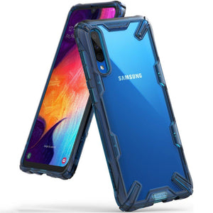 Husa Ringke Fusion X durable PC Case with TPU Bumper for Samsung Galaxy A50 blue - Trendmobile