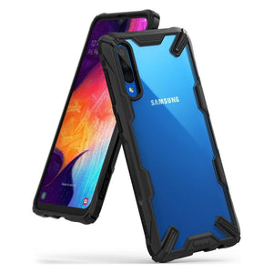 Husa Ringke Fusion X durable PC Case with TPU Bumper for Samsung Galaxy A70 black - Trendmobile