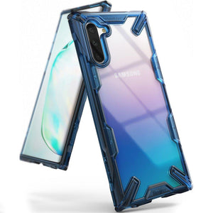 Husa Ringke Fusion X durable PC Case with TPU Bumper for Samsung Galaxy Note 10 blue - Trendmobile