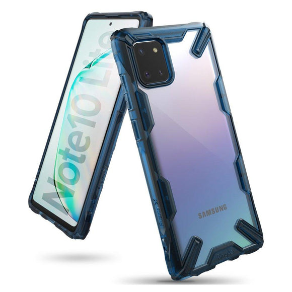 Husa Ringke Fusion X durable PC Case with TPU Bumper for Samsung Galaxy Note 10 Lite blue - Trendmobile