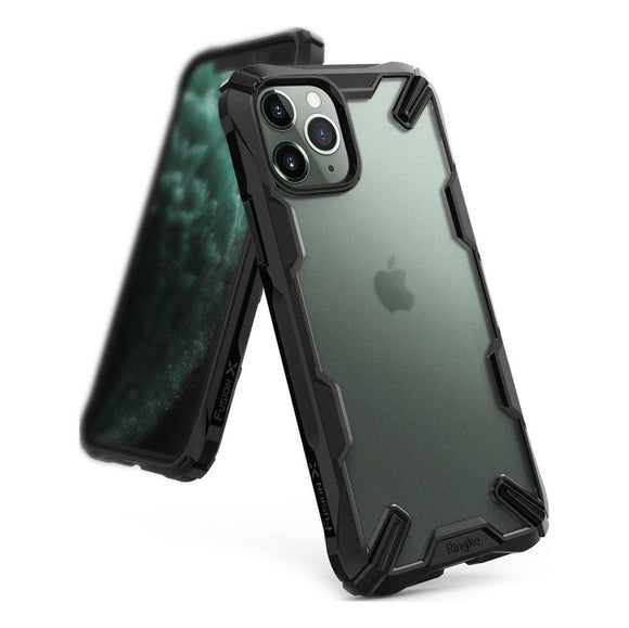 Husa Ringke Fusion X Matte durable PC Case with TPU Bumper for iPhone 11 Pro Max black - Trendmobile