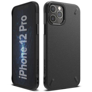Husa Ringke Onyx Durable TPU Case Cover for iPhone 12 Pro / iPhone 12 black - Trendmobile
