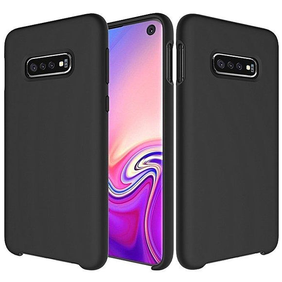 Husa Silicone Case Soft Flexible Rubber Cover pentru Samsung Galaxy S10 black - Trendmobile