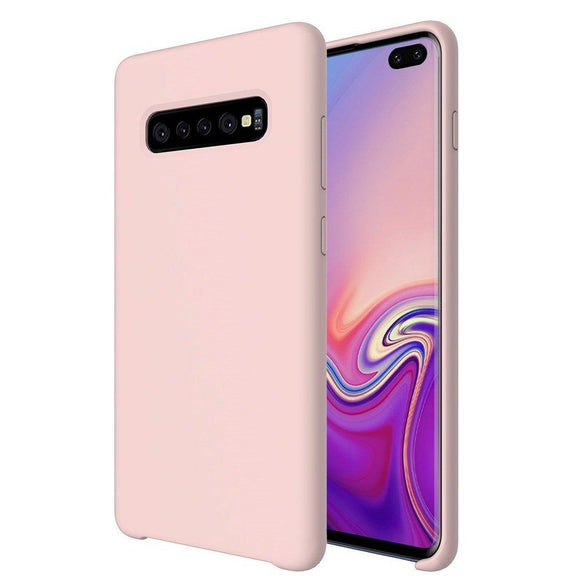 Husa Silicone Case Soft Flexible Rubber Cover pentru Samsung Galaxy S10 Plus Pink - Trendmobile
