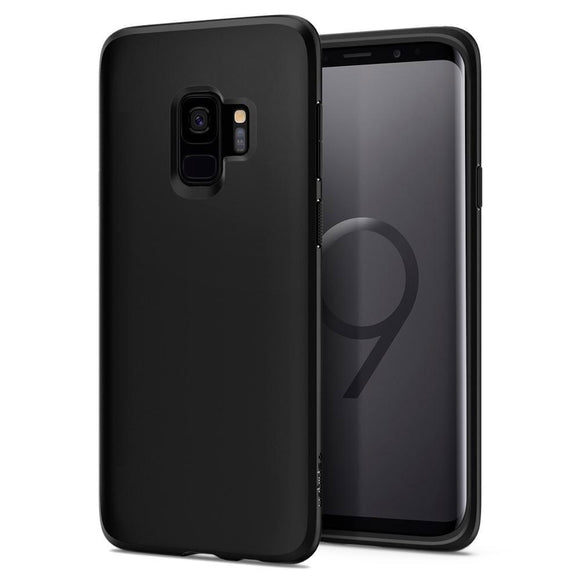Husa Spigen Liquid Crystal Galaxy S9 Matte Black - Trendmobile