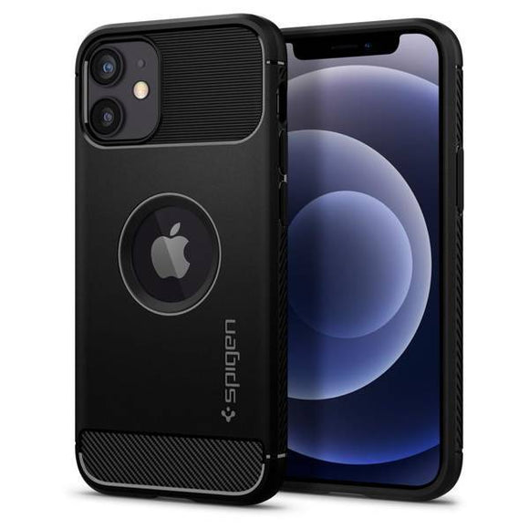 Husa SPIGEN RUGGED ARMOR IPHONE 12 MINI BLACK MATTE - Trendmobile