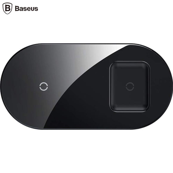 Incarcator wireless - Baseus Simple 2 in 1 pentru telefoane si AirPods 15W - Trendmobile