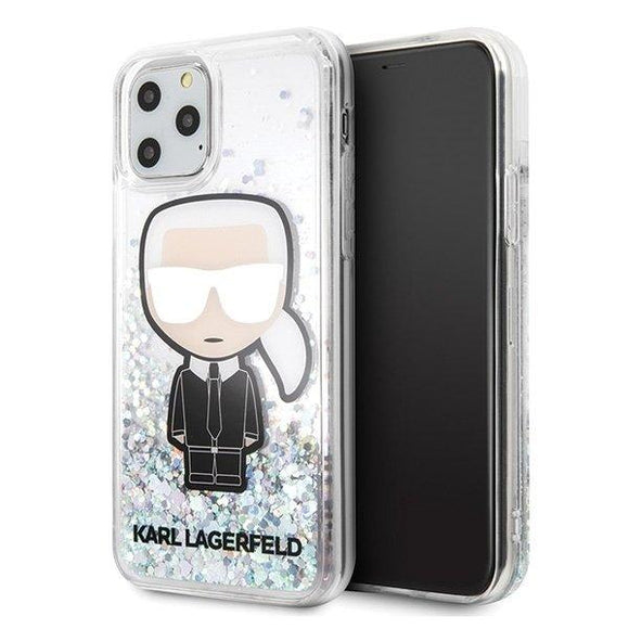 Karl Lagerfeld iPhone 11 Pro Max hardcase Liquid Glitter Iridescent Iconic - Trendmobile