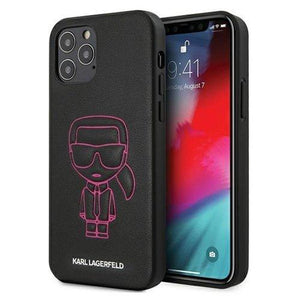 "Karl Lagerfeld iPhone 12 mini 5,4"" pink hardcase Karl Ikonik Outline - Trendmobile"