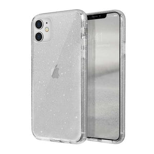 Husa UNIQ etui LifePro Tinsel iPhone 11 Glitter Transparenta