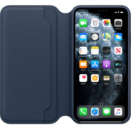 Husa Apple iPhone 11 Pro Max Leather Folio Deep Sea Blue MY1P2ZM/A