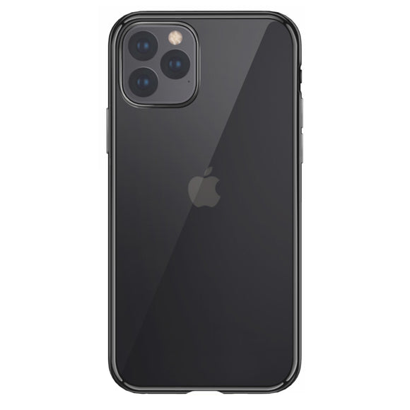 Husa de Silicon Transparenta iPhone, Rama Neagra - Trendmobile