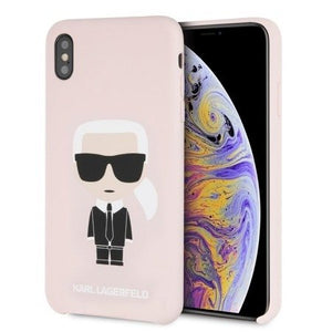 Husa Karl Lagerfeld ICONIC FULL BODY IPHONE XS MAX PINK / roz