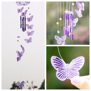 Butterfly Wind Chimes Outdoor Garden Home Door Hanging Decor Ornament