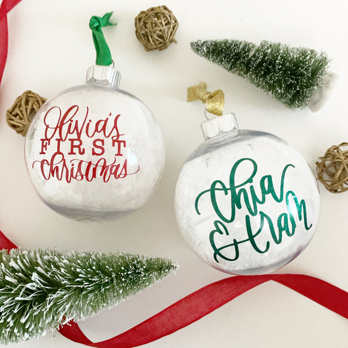 Customizable Snow Ornaments