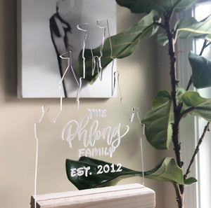 Customizable Acrylic Family Sign