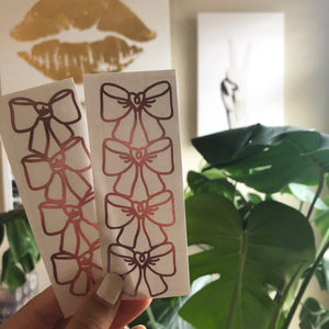 Bow Bookmark Vinyl Sticker