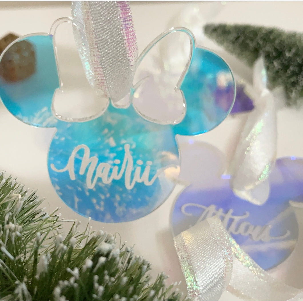 Customizable Iridescent Customizable Ornaments