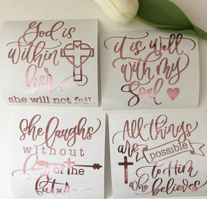 Bible Verse Vinyl Bundle