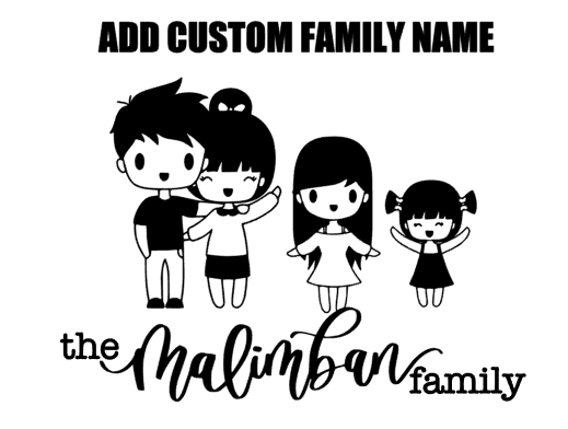 (ADD-ON) Custom Family Name for Car Decal