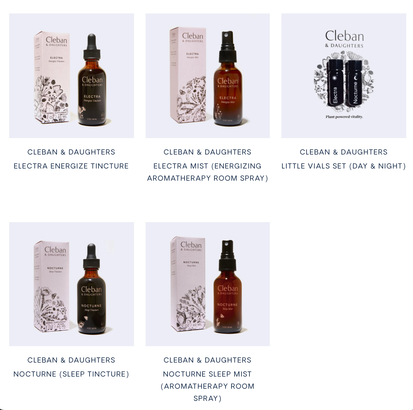 Cleban & Daughters Sleep and Stress Support Products
