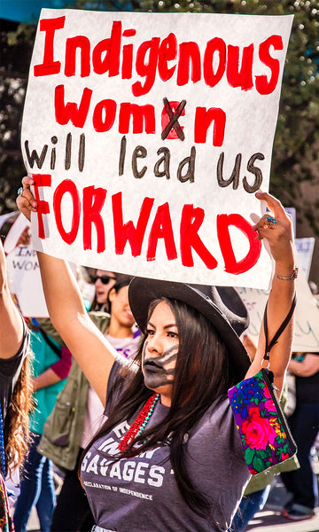International Women's Day Women of the Tohono Indian Tribe in Tucson, AZ led the Tucson Women's March in January 2019. by Dulcey Lima