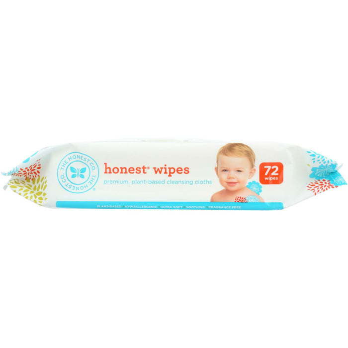 Honest Wipes - Unscented - Baby - 72 Wipes