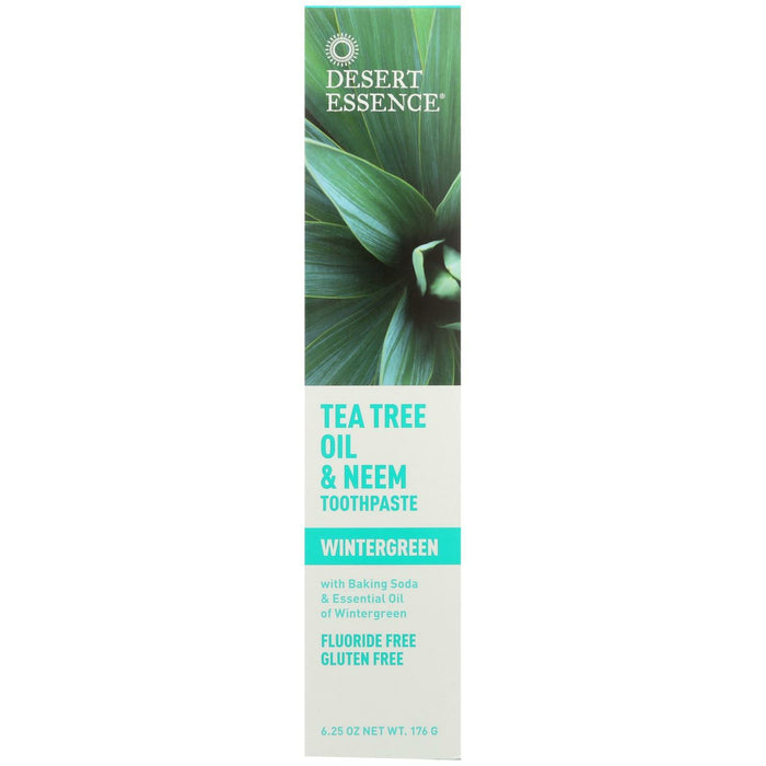 Tea Tree Oil and Neem Toothpaste - Wintergreen - 6.25 Oz