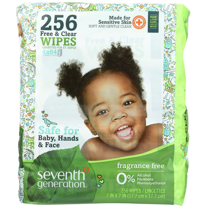 Free And Clear Baby Wipes - Refills - Case Of 3 - 256 Count