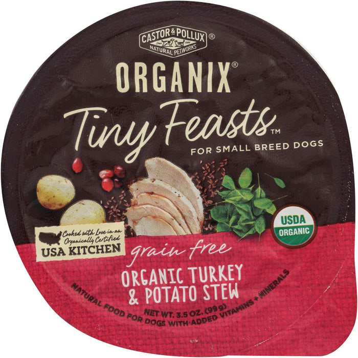 Organix Tiny Feasts Small Breed Dog Food - Organic Turkey and Potato Stew