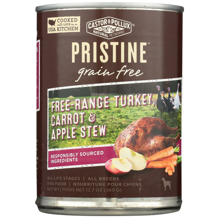 Organix Wet Dog Food - Free-Range Turkey, Carrot & Apple Stew  - Case Of 12