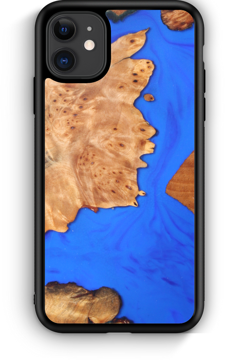 Slim Resin & Wood Phone Case | Coastline Blue (Clearance)