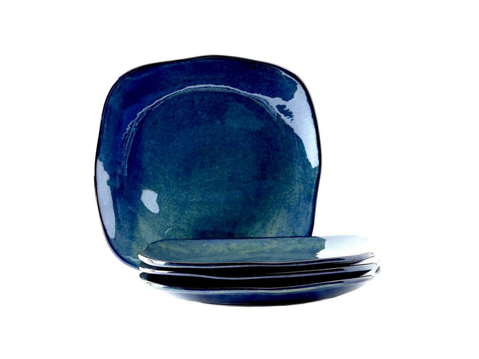 "Artisan Reactive Square Dinner Plate 11"" - Set of 4"