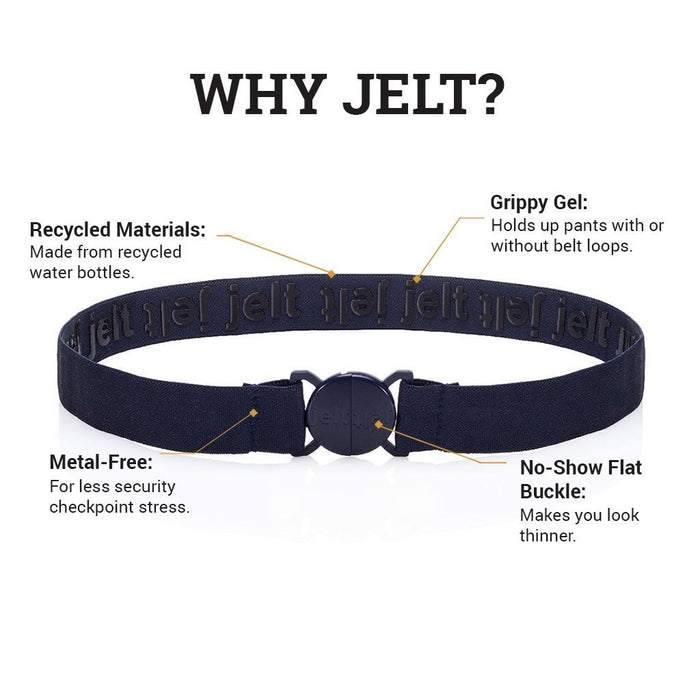 Denim Navy Elastic Belt